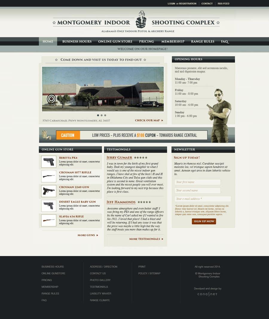 Penyertaan Peraduan #                                        11                                      untuk                                         Design a Website Mockup for Shooting Range