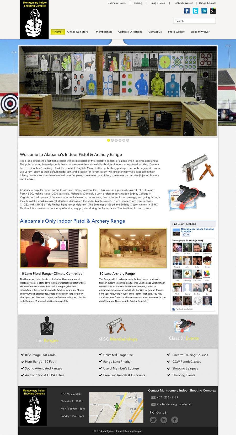 Penyertaan Peraduan #                                        6                                      untuk                                         Design a Website Mockup for Shooting Range