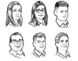 #16 untuk Cartoon drawing of 12 x small portrait photos. oleh simonayudante