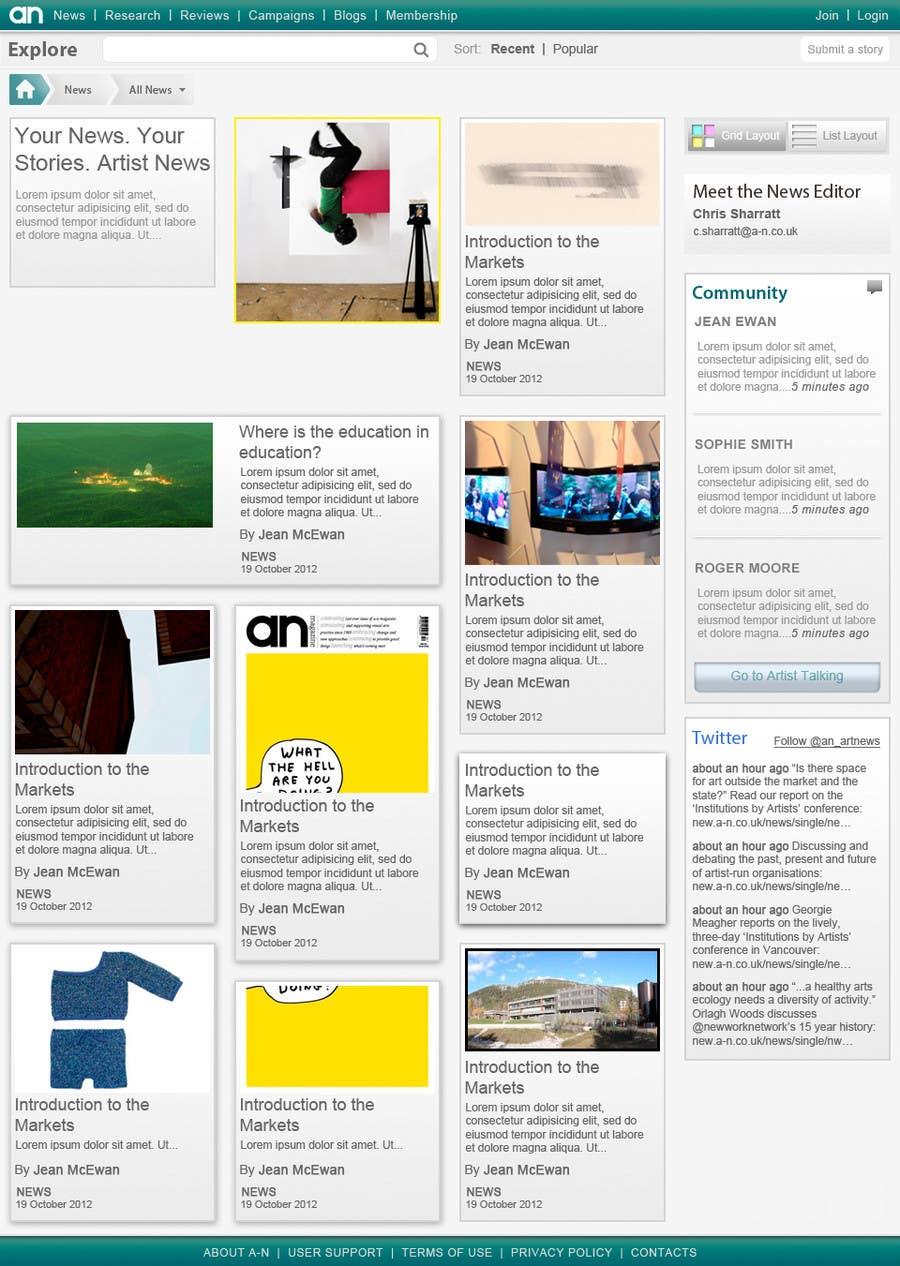 Inscrição nº                                         4                                      do Concurso para                                         Website Design for a Artist Social Network