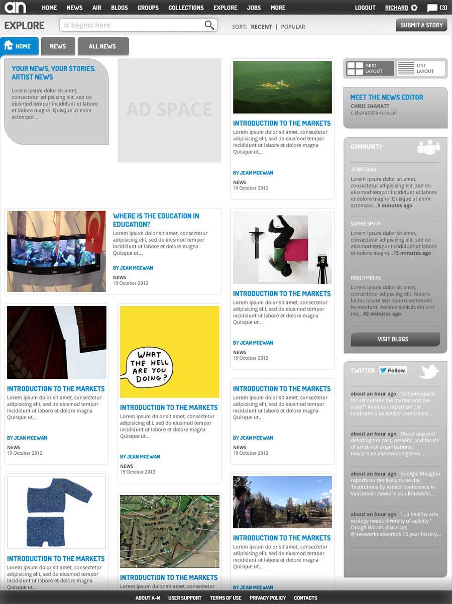 Inscrição nº                                         47                                      do Concurso para                                         Website Design for a Artist Social Network