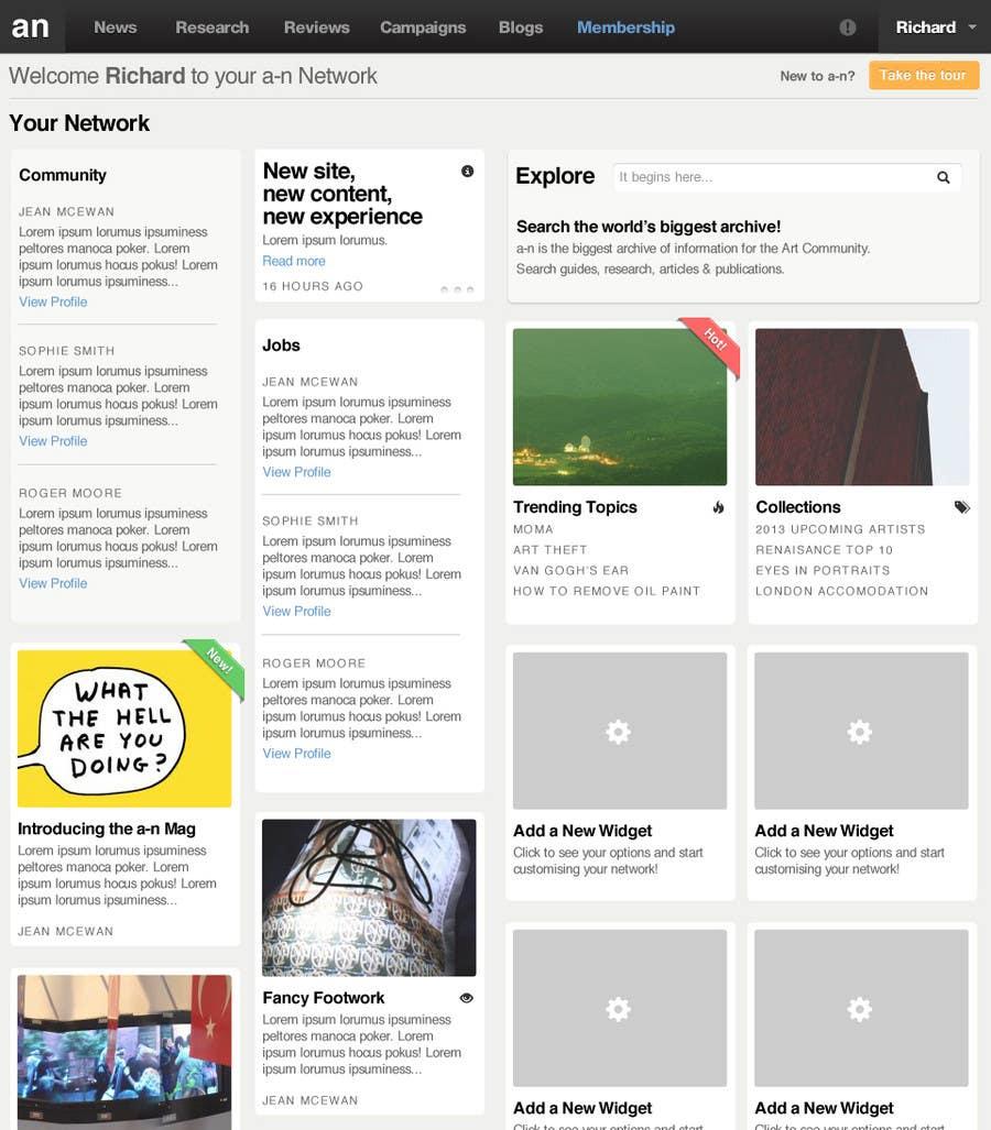 Inscrição nº                                         40                                      do Concurso para                                         Website Design for a Artist Social Network