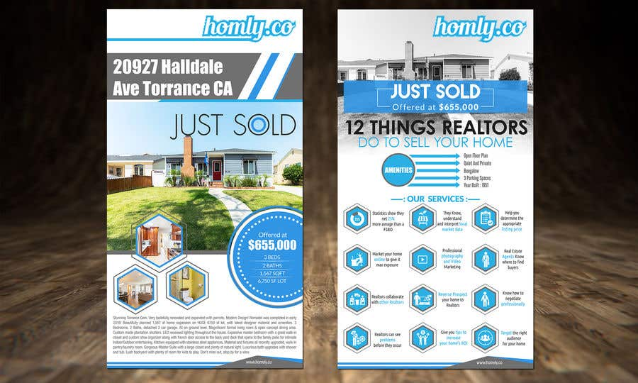 entry 26 by dreamworld092016 for design a real estate just sold