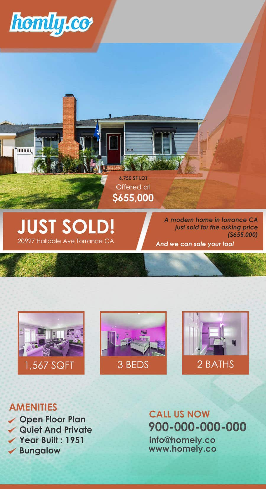 entry 5 by rabibamin for design a real estate just sold flyer