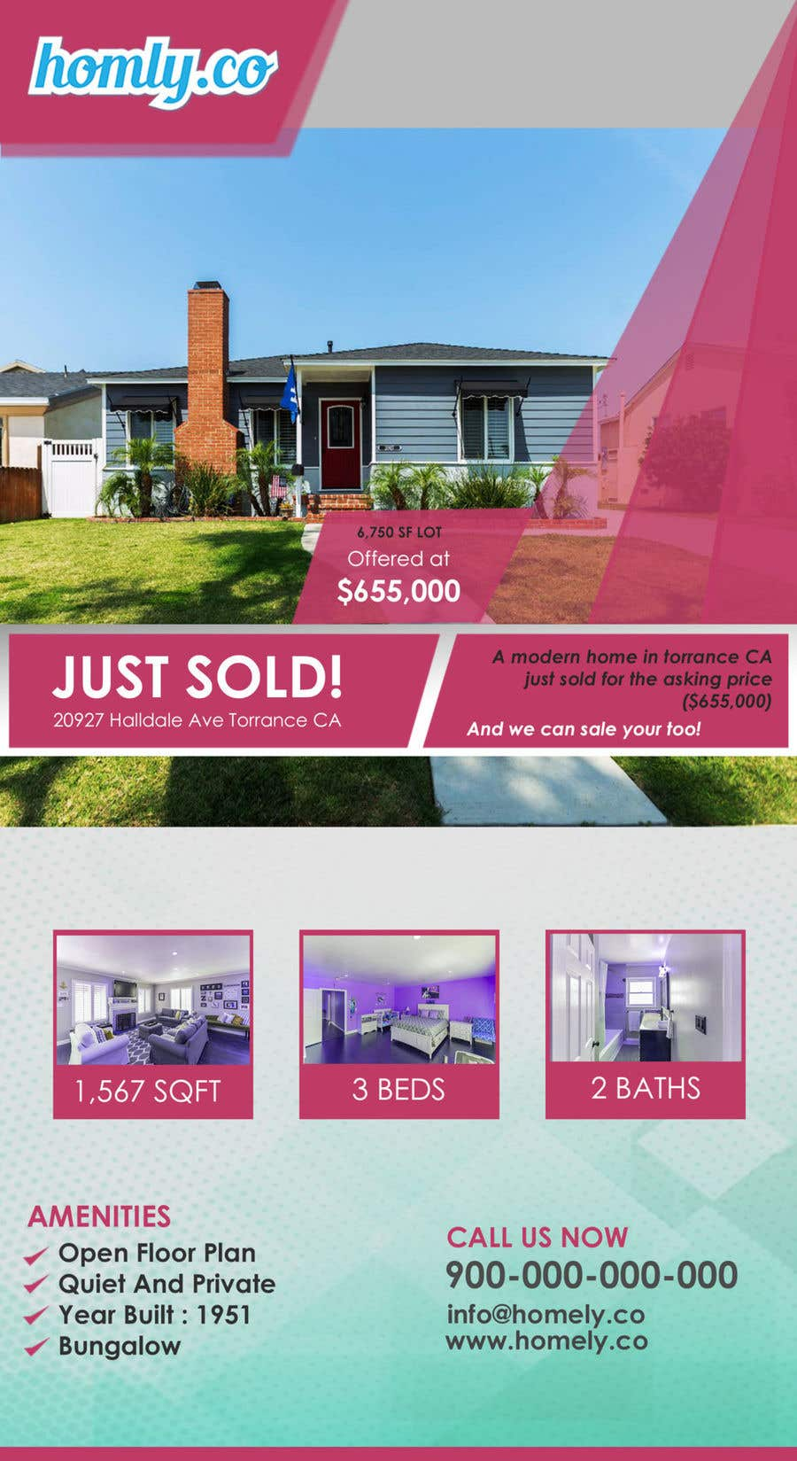 entry 6 by rabibamin for design a real estate just sold flyer