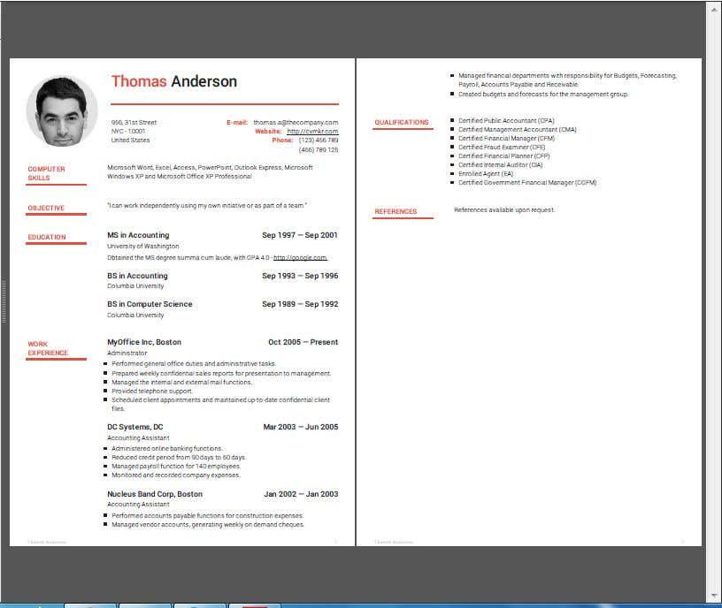 Entry #2 by sukumaran12178 for Redesign and Update Resume | Freelancer