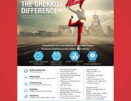 #46 para Design a one page sales brochure for Ghekko - a technology company por meenastudio