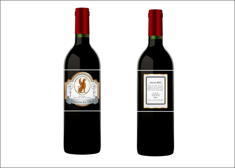 Proposition n°                                        56                                      du concours                                         Wine Label for Dangerous Dave