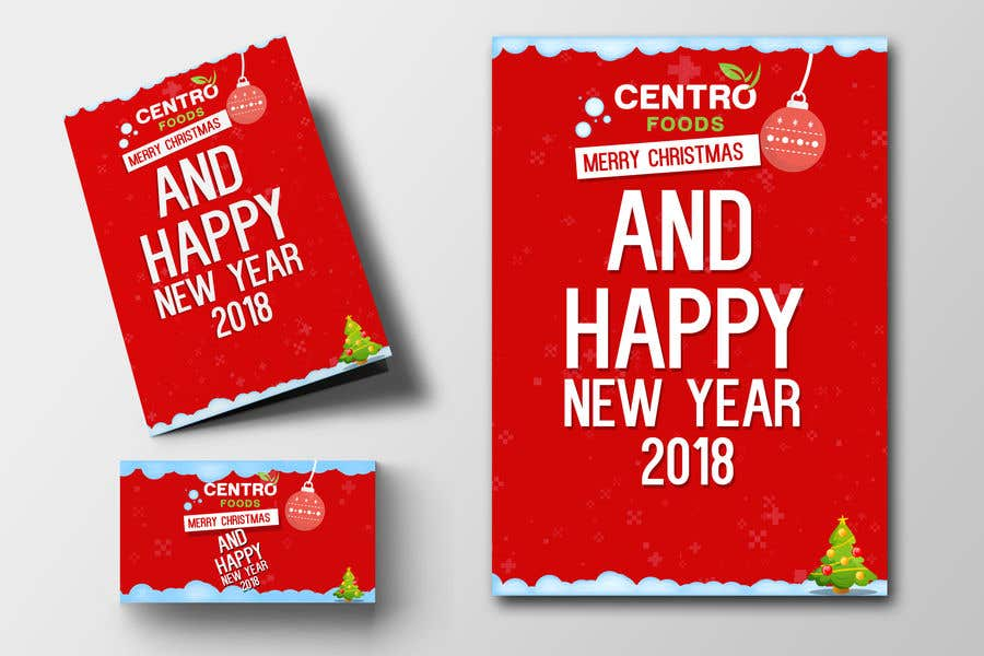 contest entry 167 for merry christmas and happy new year cards to be sent as