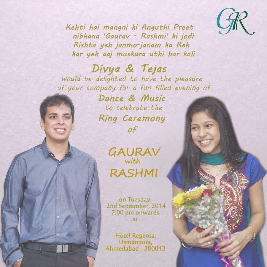 Entry #13 by Divyakhanna for Suman Rahul Indian wedding Invitation ...