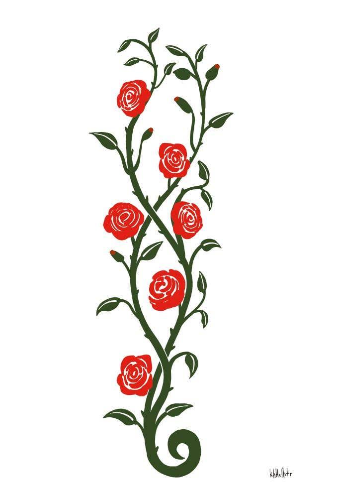 Entry 3 By Khellstr For Red Roses On A Vine Illustration Freelancer