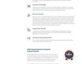 CodeWorth tarafından Design One Page for MBA Site için no 37