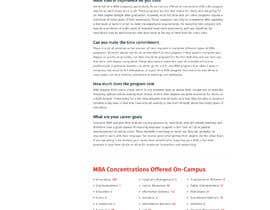 pixelwebplanet tarafından Design One Page for MBA Site için no 29