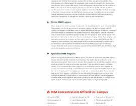 pixelwebplanet tarafından Design One Page for MBA Site için no 31