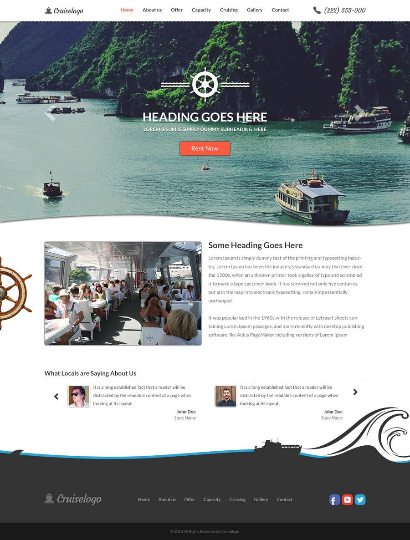 Penyertaan Peraduan #                                        10                                      untuk                                         Design a Website Mockup for local boat tourist tours