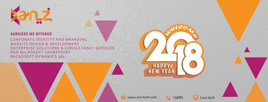 contest entry 18 for design new year banner illutrating services