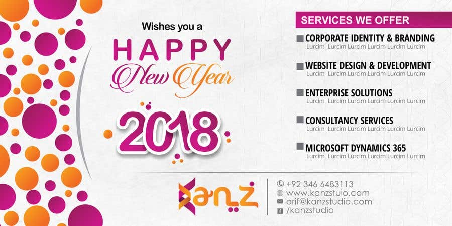 contest entry 70 for design new year banner illutrating services