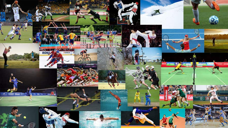 collage sports background many website contest