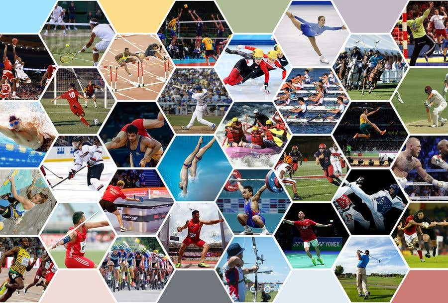 collage sports many background website contest entry positive