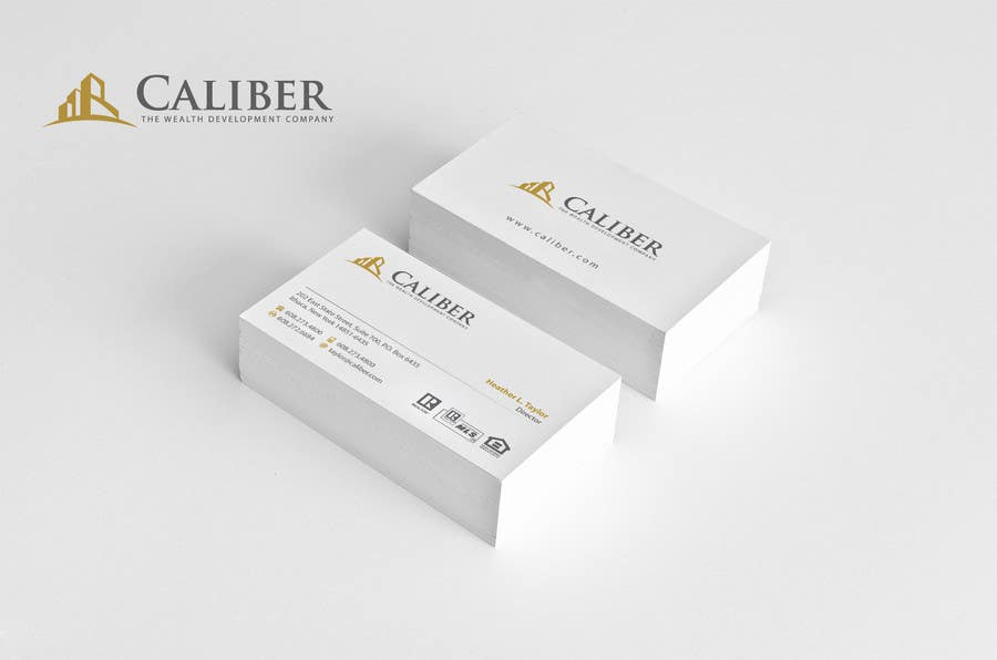#13 for Business Card Design for Caliber - The Wealth Development Company by Brandwar