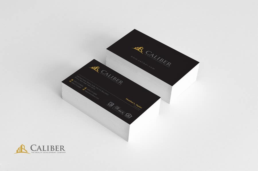 #42 for Business Card Design for Caliber - The Wealth Development Company by Brandwar