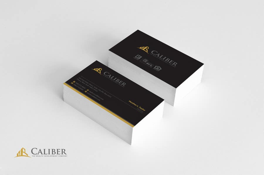 #43 for Business Card Design for Caliber - The Wealth Development Company by Brandwar