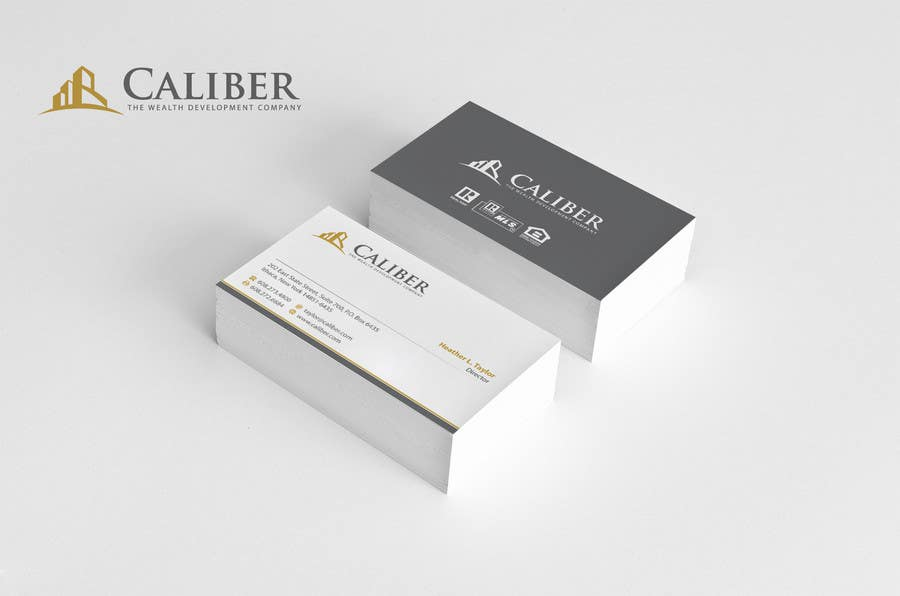 Kilpailutyö #12 kilpailussa Business Card Design for Caliber - The Wealth Development Company