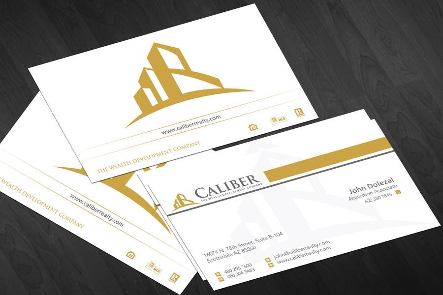 #16 for Business Card Design for Caliber - The Wealth Development Company by jobee