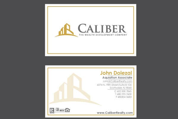 #47 for Business Card Design for Caliber - The Wealth Development Company by vanikhullar