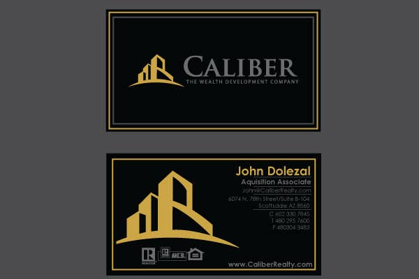 #50 for Business Card Design for Caliber - The Wealth Development Company by vanikhullar