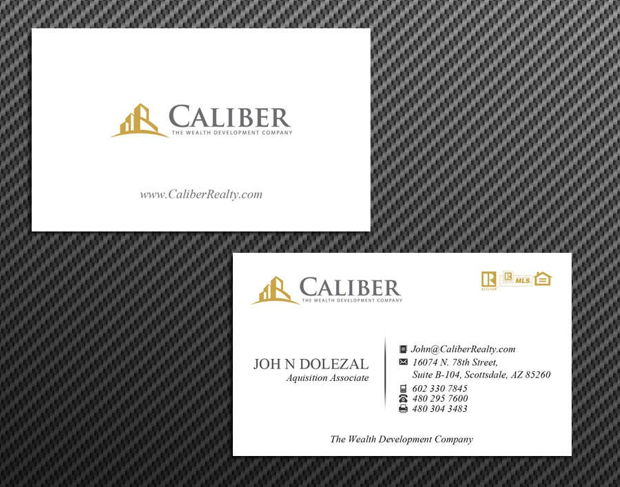 #32 for Business Card Design for Caliber - The Wealth Development Company by McFOX