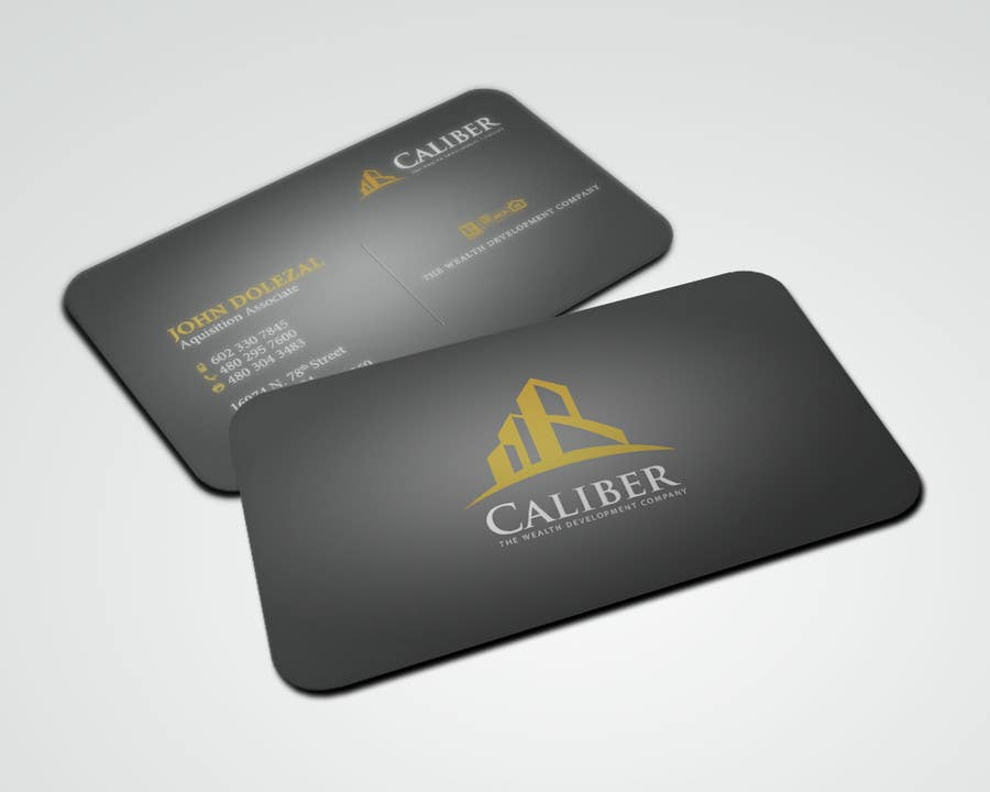 #36 for Business Card Design for Caliber - The Wealth Development Company by sarah07