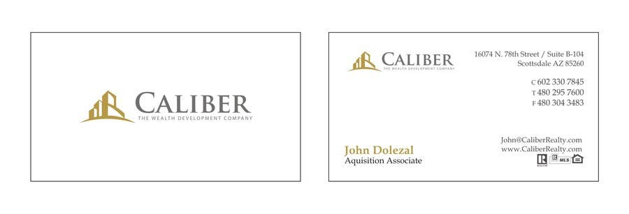#1 for Business Card Design for Caliber - The Wealth Development Company by carlosoliveiras