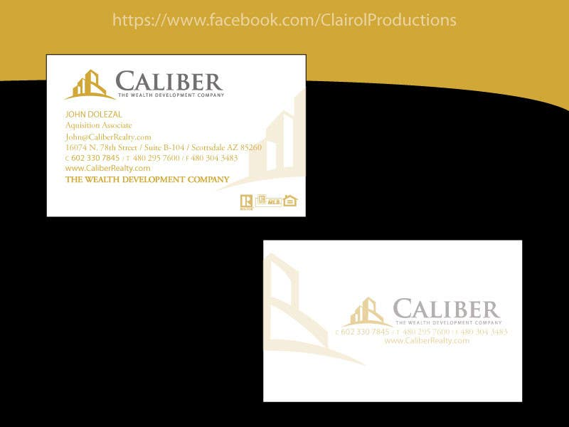 Proposition n°                                        26                                      du concours                                         Business Card Design for Caliber - The Wealth Development Company