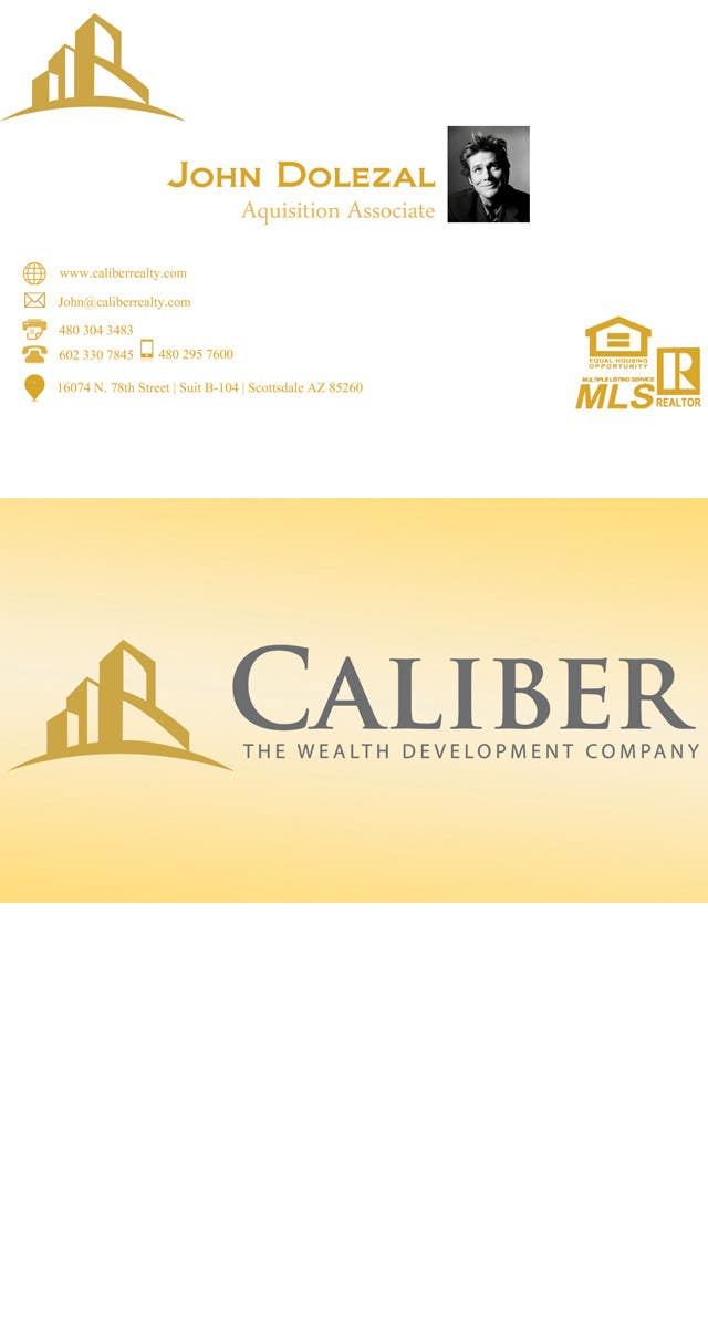 Proposition n°                                        90                                      du concours                                         Business Card Design for Caliber - The Wealth Development Company