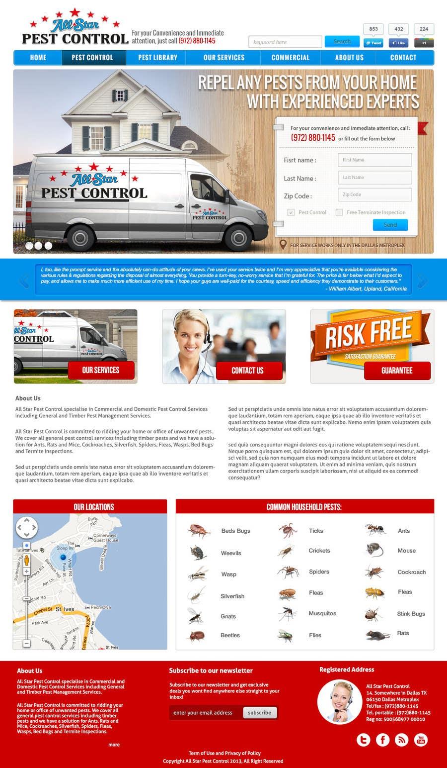 Konkurrenceindlæg #25 for Website Design for All Star Pest Control