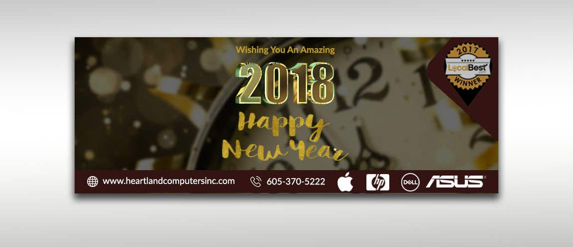 contest entry 35 for design 2018 new year facebook cover page