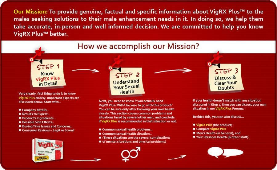 """Kilpailutyö #                                        14                                      kilpailussa                                         Graphic Design for """"how we accomplish our mission"""" of www.knowvigrxplusbetter.com"""