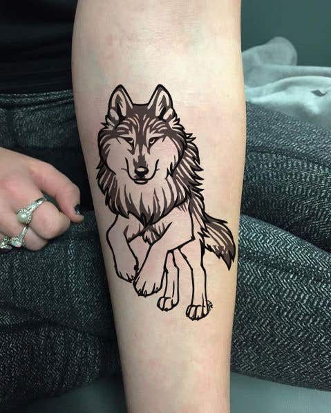 Contest Entry 3 For Design Wolf Tattoo
