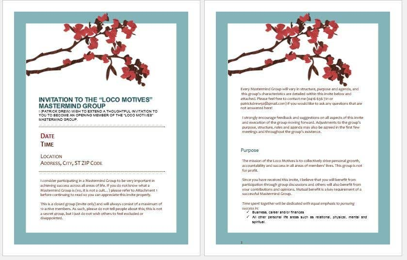 Entry 9 by sohaibnasir2 for make my invitation document attractive contest entry 9 for make my invitation document attractive and professional stopboris Image collections