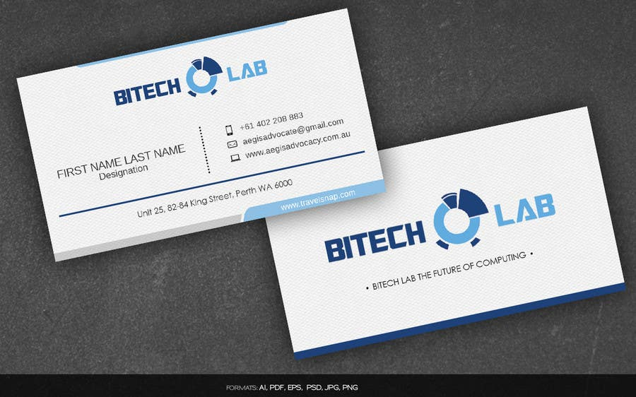 Entry #13 by arnee90 for Design some Business Cards for BiTech Lab ...