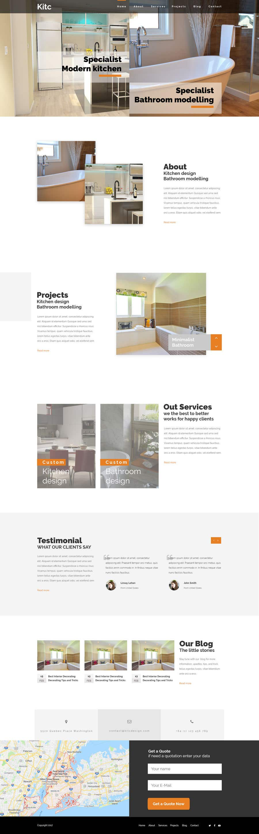 Entry #16 by yusnamaulana for Design 3 mockup website pages for me ...