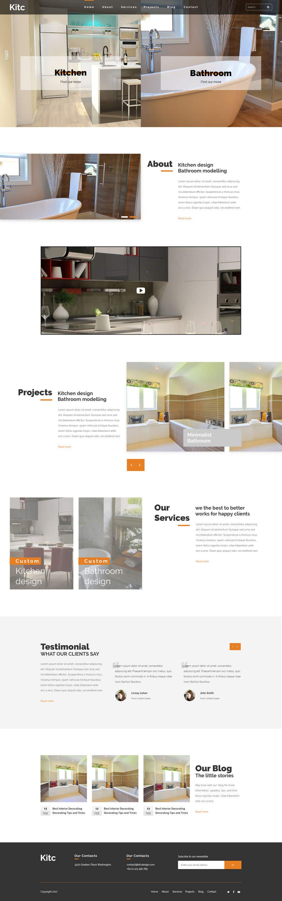 Entry #21 by yusnamaulana for Design 3 mockup website pages for me ...