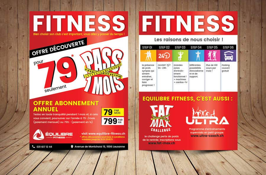 Contest Entry #47 for Design a Gym direct mail Flyer