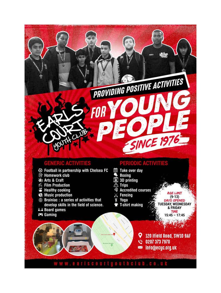 Kilpailutyö #52 kilpailussa Design 2 double sided flyers to advertise a youth centre.