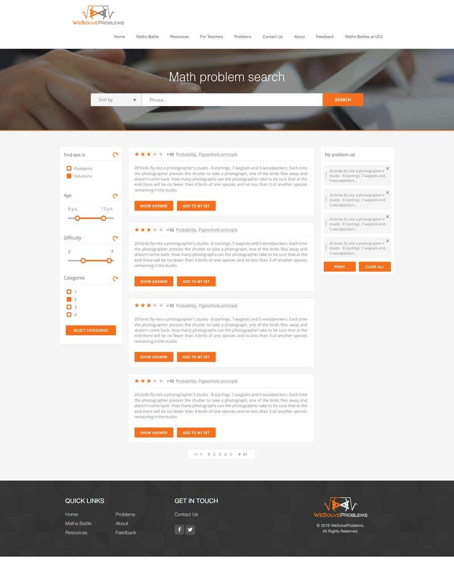 Entry #1 by AquimaWeb for Design math problem search result page ...