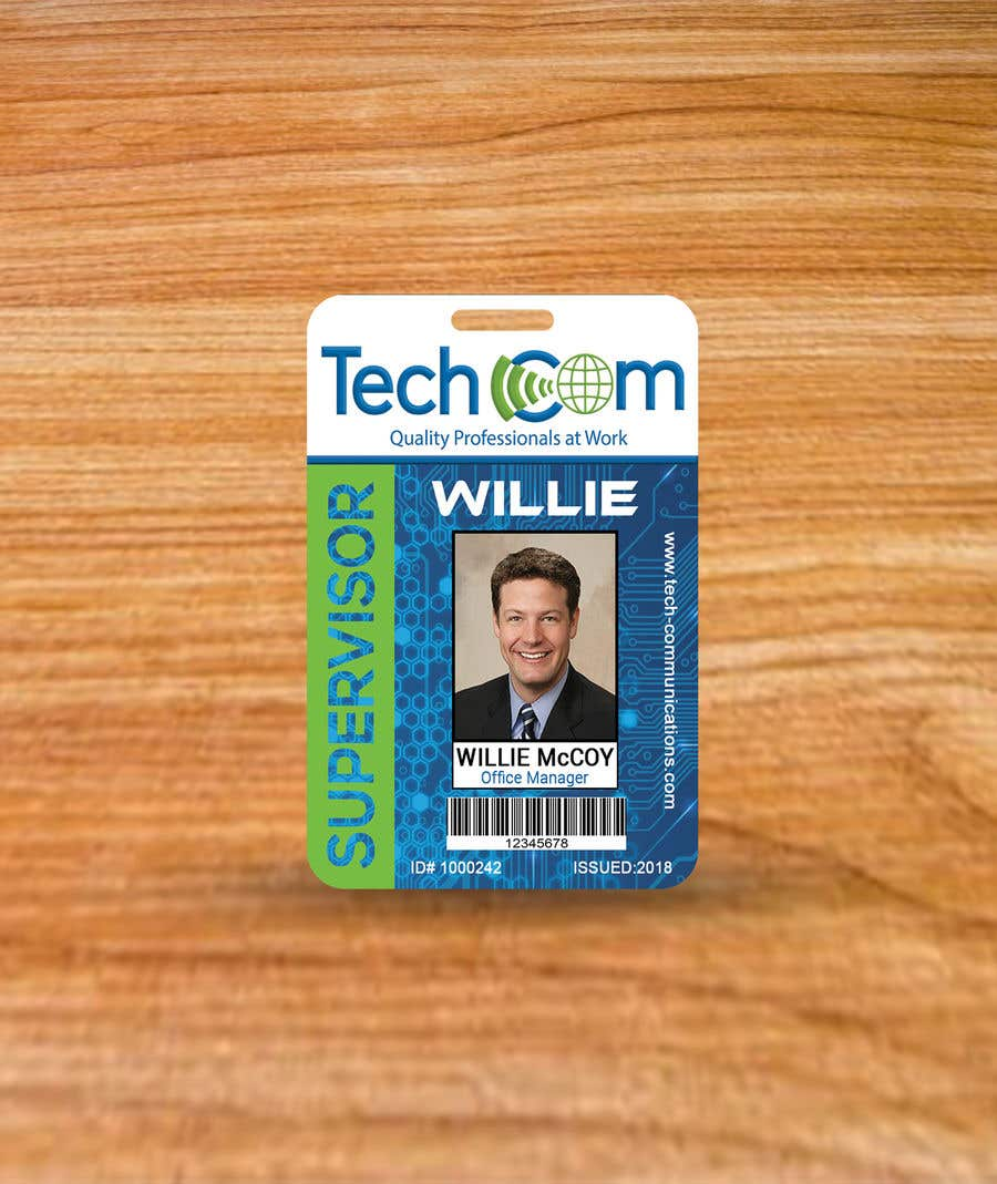 entry 25 by sakilahmed733 for design company id badges for