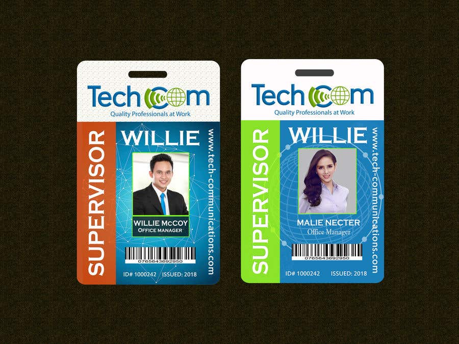 entry 57 by eamin12 for design company id badges for employees