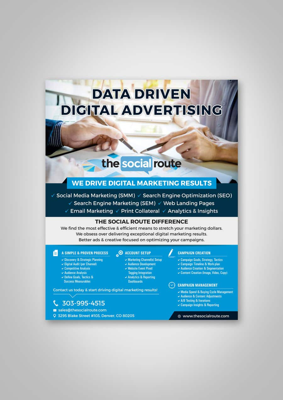 contest entry 80 for design a 8x10 one page sales brochure for a digital