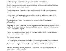 #24 for Translate script of promo video into Spanish by andreavrivero
